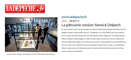 La pâtisserie version Yannick Delpech