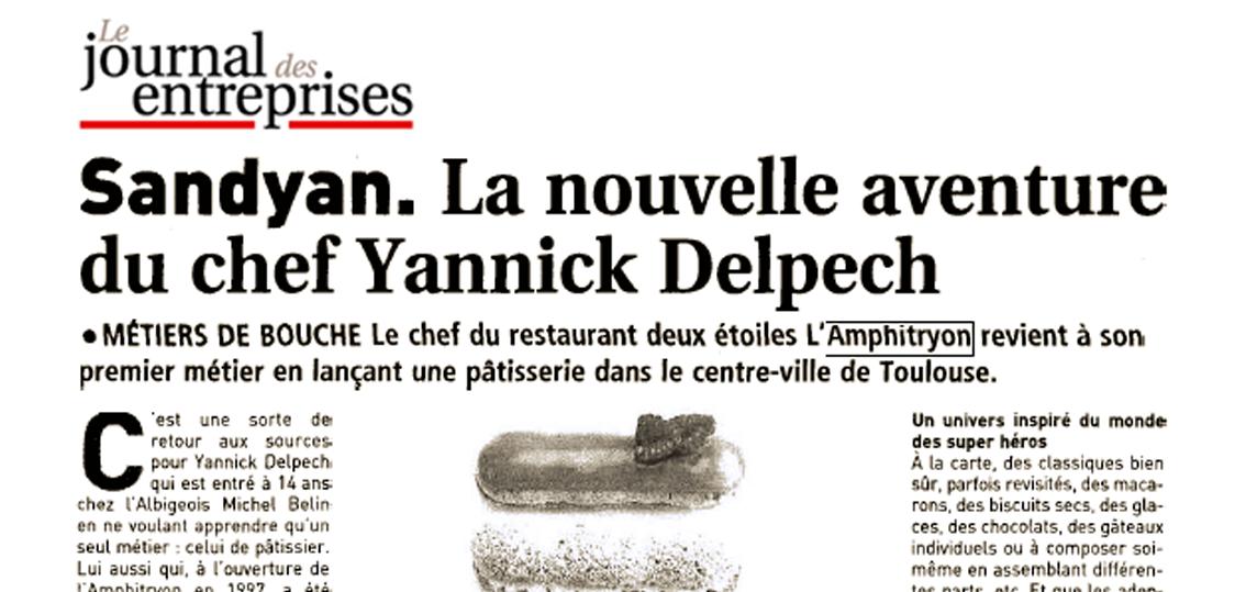 La nouvelle aventure du chef Yannick Delpech | Le journal des entreprises