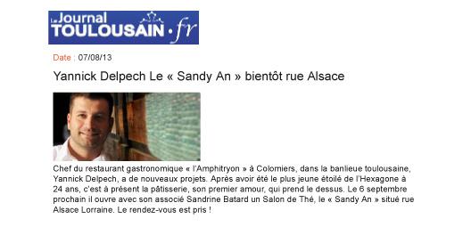 Yannick Delpech Le « Sandyan » bientôt rue Alsace