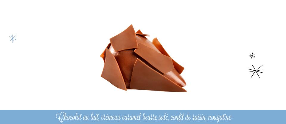 Larme de joie caramel beurre salé, chocolat au lait